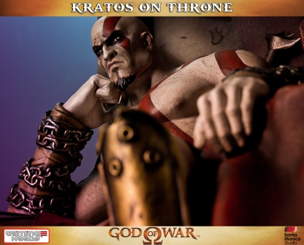 Kratos on Throne - Gaming Heads - 1