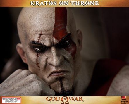 Kratos on Throne - Gaming Heads - 2