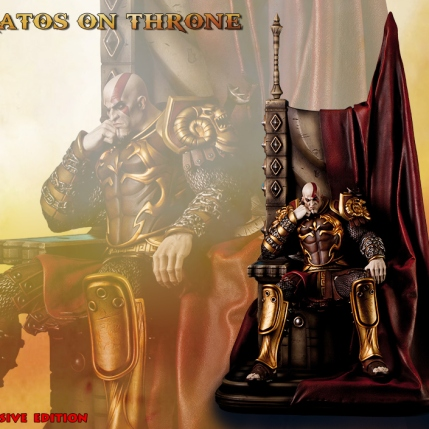 Kratos on Throne - Gaming Heads Exclusive - 1