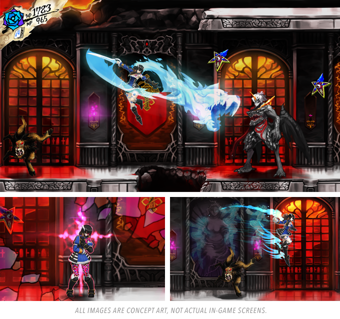 Bloodstained Ritual of the Night Kickstarter concept art