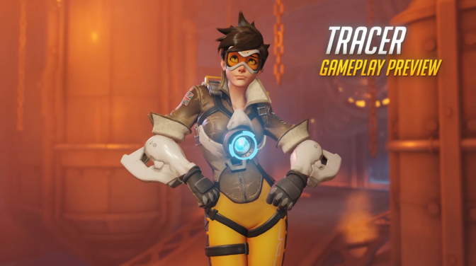 """New 'Overwatch' Footage Highlights """"Tracer"""" Gameplay"""