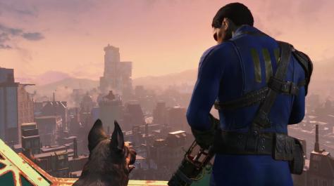 Bethesda E3 2015 Fallout 4 Boston overlook