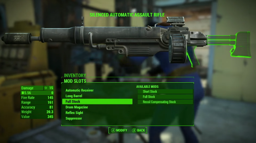 Bethesda E3 2015 Fallout 4 crafting weapons
