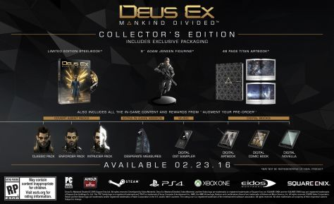 Deus Ex Mankind Divided Collector's Edition