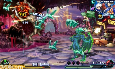 Project X Zone 2 Darkstalkers screenshot