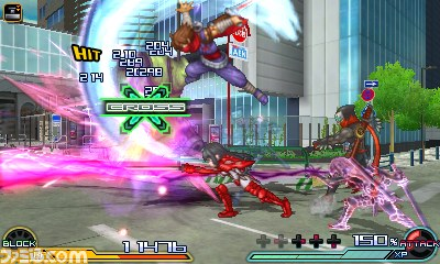 Project X Zone 2 Hibana Assist screenshot 2