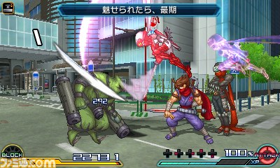 Project X Zone 2 Hibana Assist screenshot