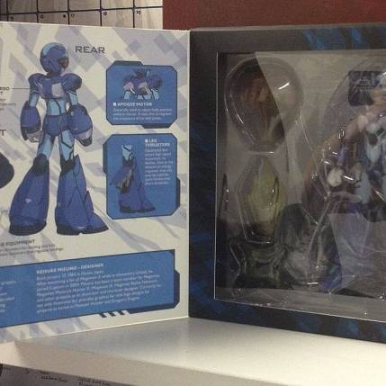 TruForce Collectibles Mega Man X Action Figure Packaging Open