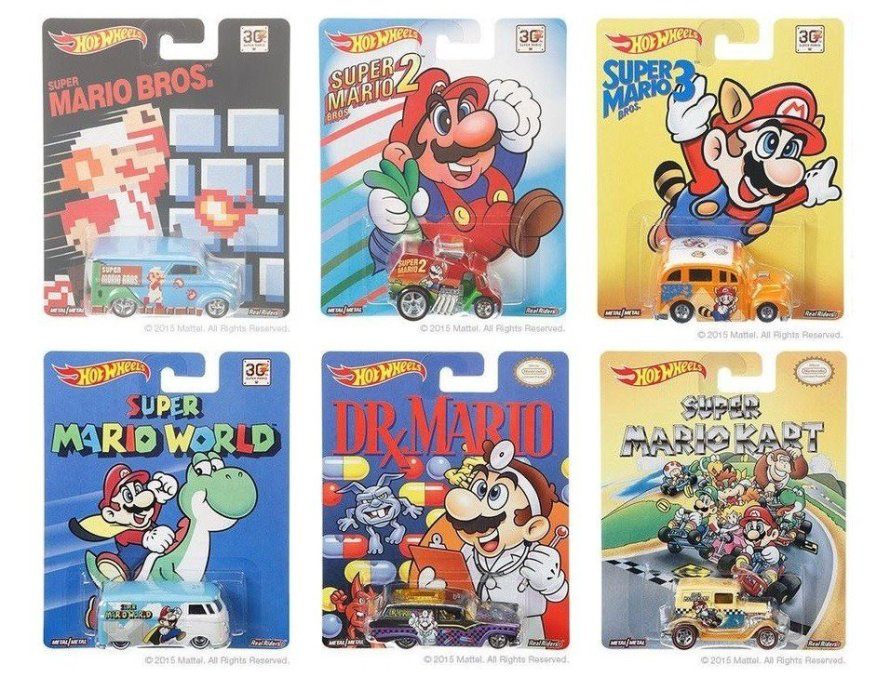 30th Anniversary Super Mario Bros Hot Wheels Collection