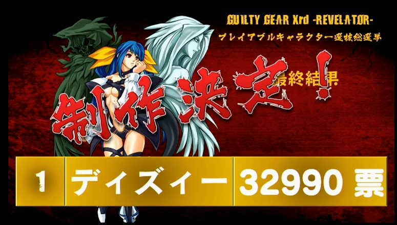Guilty Gear Xrd Revelator Character Poll Winner Dizzy
