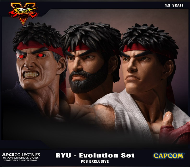 PCS Collectibles Street Fighter V Ryu Evolution Set Statues