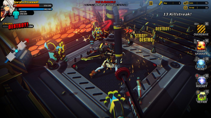 Smashing the Battle Gameplay Screenshot 1