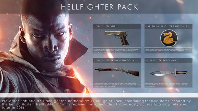 Battlefield 1 Harlem Hellfighters Pack