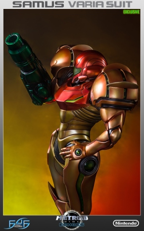 First4Figures Metroid Prime 2 Echoes Varia Suit Exclusive Edition Statue 18