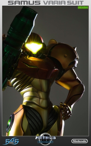 First4Figures Metroid Prime 2 Echoes Varia Suit Exclusive Edition Statue 3
