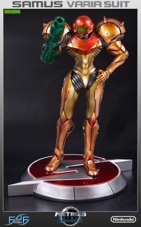 First4Figures Metroid Prime 2 Echoes Varia Suit Exclusive Edition Statue 7