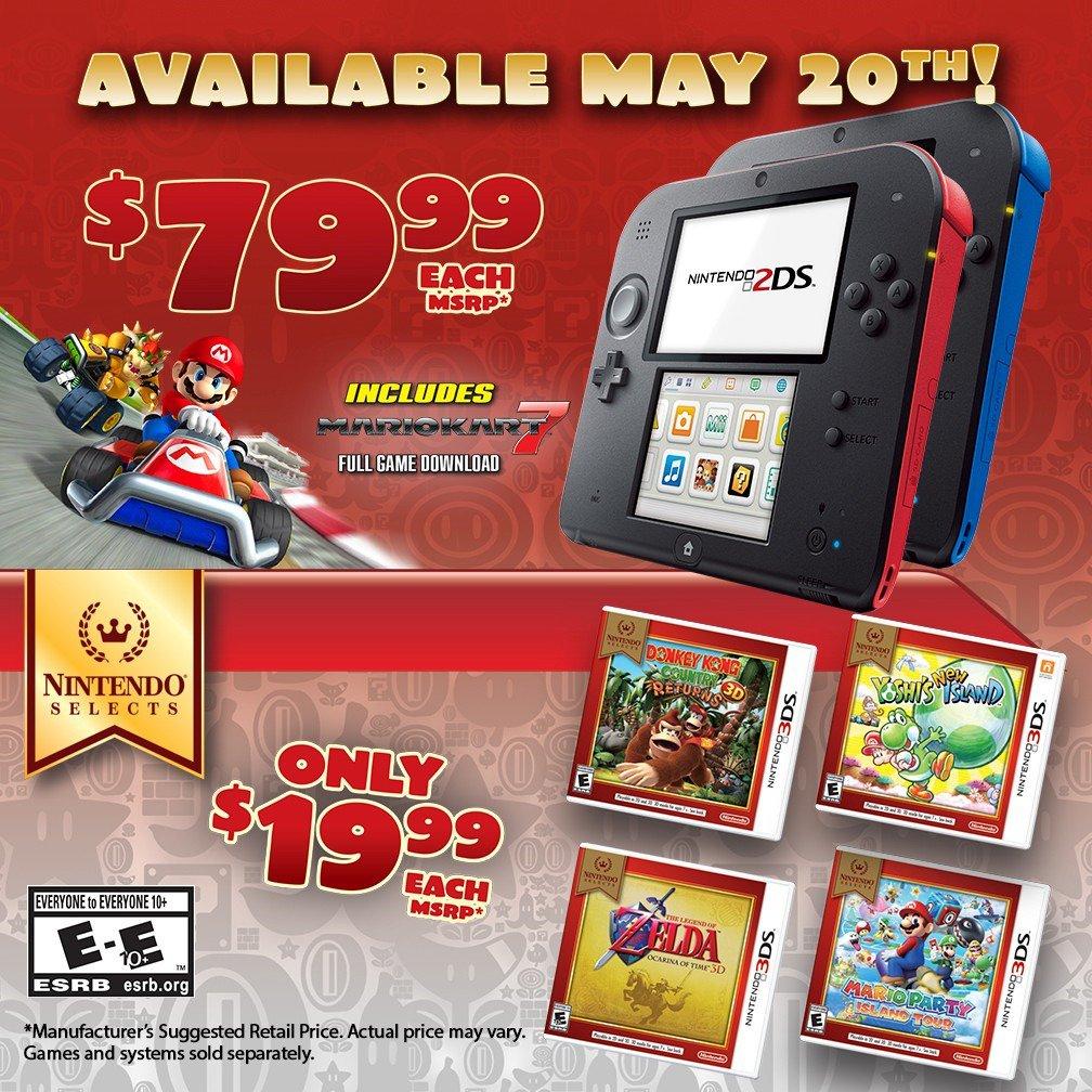 Nintendo 2DS 79.99 Price Drop Flyer