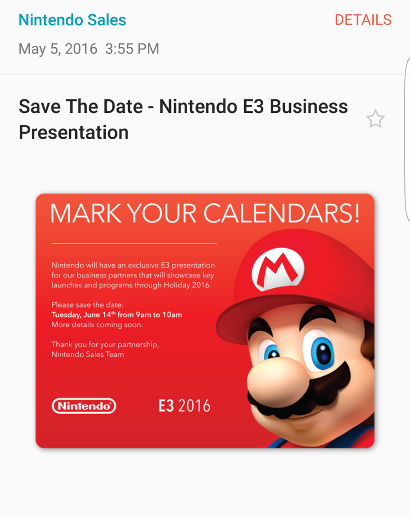 Nintendo E3 2016 Business Presentation Announcement