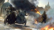 Battlefield 1 Motorcycle Escape Concept Art