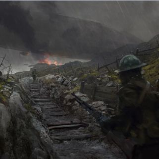 Battlefield 1 Trench Concept Art