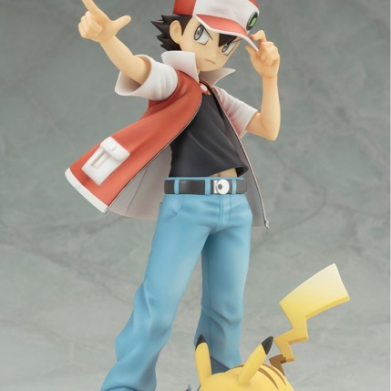 Kotobukiya ARTFX J Trainer Red With Pikachu Statue 1