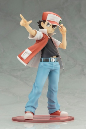 Kotobukiya ARTFX J Trainer Red With Pikachu Statue 3