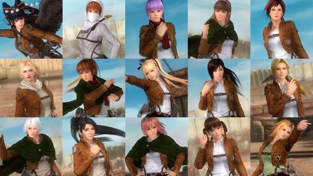 DOA5 Last Round Attack on Titan DLC 1