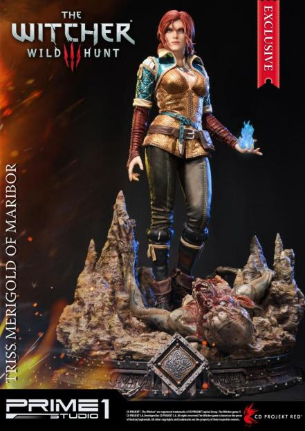 prime-1-studio-witcher-3-triss-merigold-statue-exclusive-blue-flame-variant