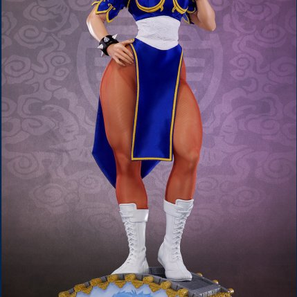 PCS Street Fighter Chun-Li Classic Qipao Statue - Photo 6