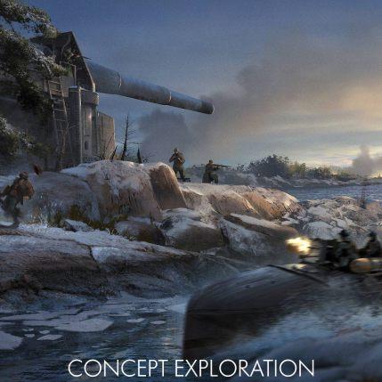 Battlefield 1 In The Name Of The Tsar DLC - Coastal Gun Battery Concept