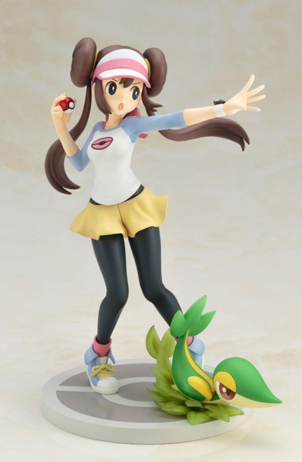 Kotobukiya ARTFX J Series Pokemon Black And White 2 Rosa With Snivy Figure 1