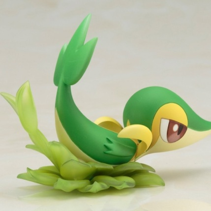 Kotobukiya ARTFX J Series Pokemon Black And White 2 Rosa With Snivy Figure - Snivy Detail 2