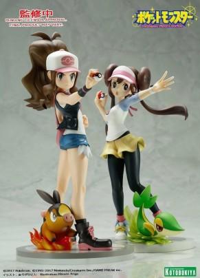 Summer Wonder Festival 2017 - Kotobukiya ARTFX J Pokemon Series Hilda with Tepig And Rosa with Snivy Statues