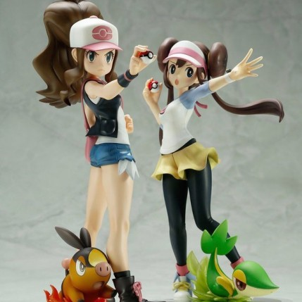 Summer Wonder Festival 2017 - Kotobukiya ARTFX J Pokemon Series Hilda with Tepig And Rosa with Snivy Statues