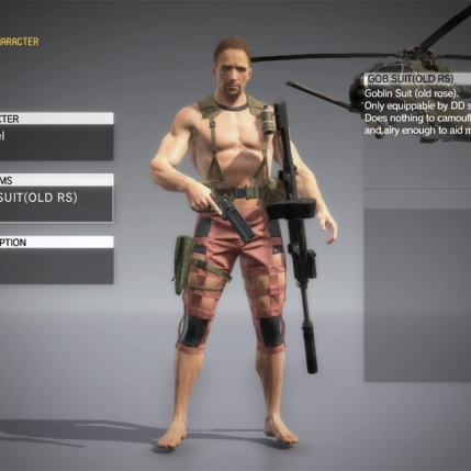 MGSV The Phantom Pain - Goblin Suit DLC - Male - Screenshot 1