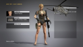 MGSV The Phantom Pain - Megalodon Suit DLC - Female - Screenshot 1