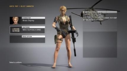 MGSV The Phantom Pain - Megalodon Suit DLC - Female - Screenshot 1
