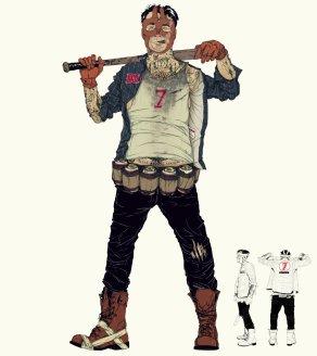 Travis Strikes Again Concept Art - Badman