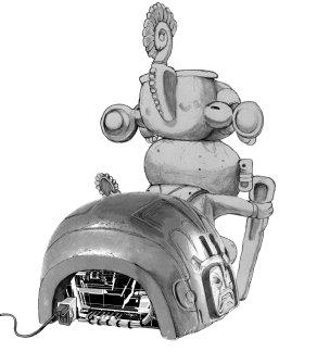 Travis Strikes Again Concept Art - Death Drive MK-II Rear