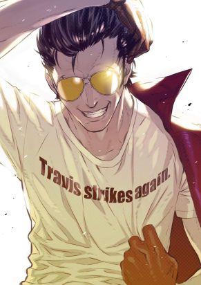 Travis Strikes Again Concept Art - Original Teaser Art
