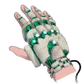 Travis Strikes Again Concept Art - Power Glove Back