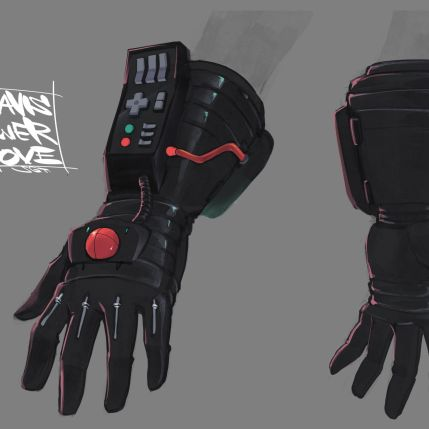 Travis Strikes Again Concept Art - Travis Power Glove Variant