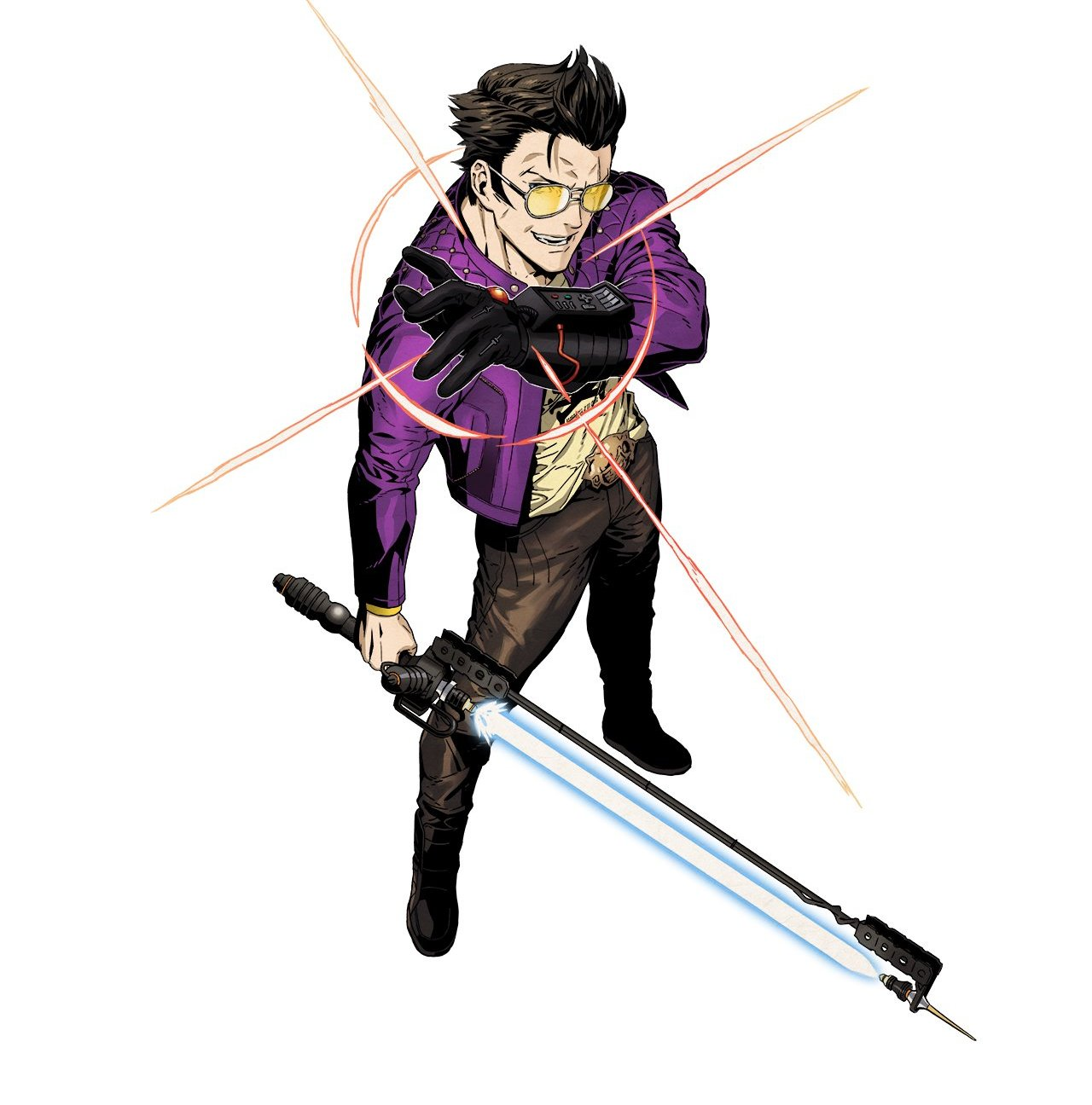 Travis Strikes Again Concept Art - Travis Touchdown